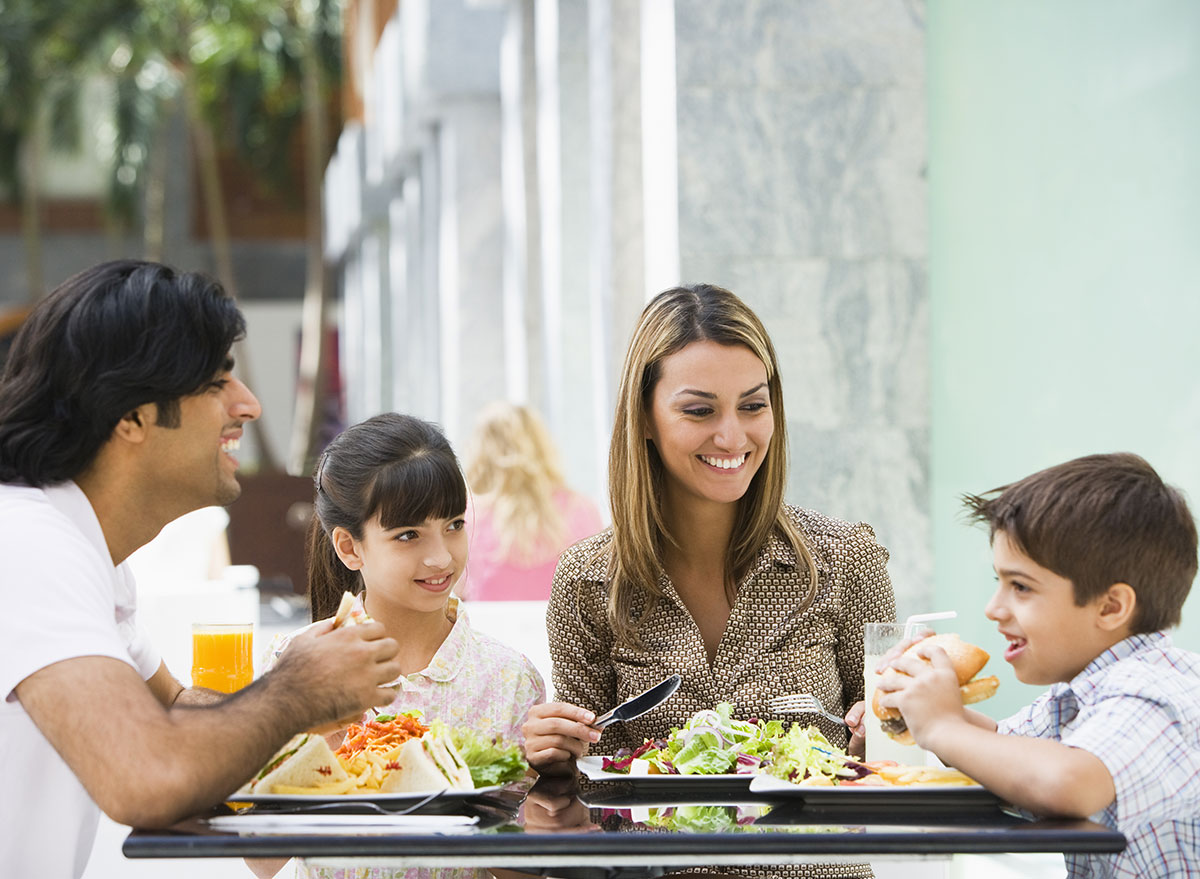 family outdoor dining