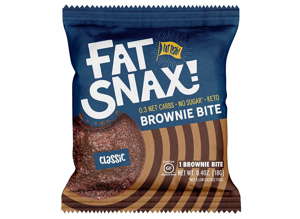fat snax keto brownie bite
