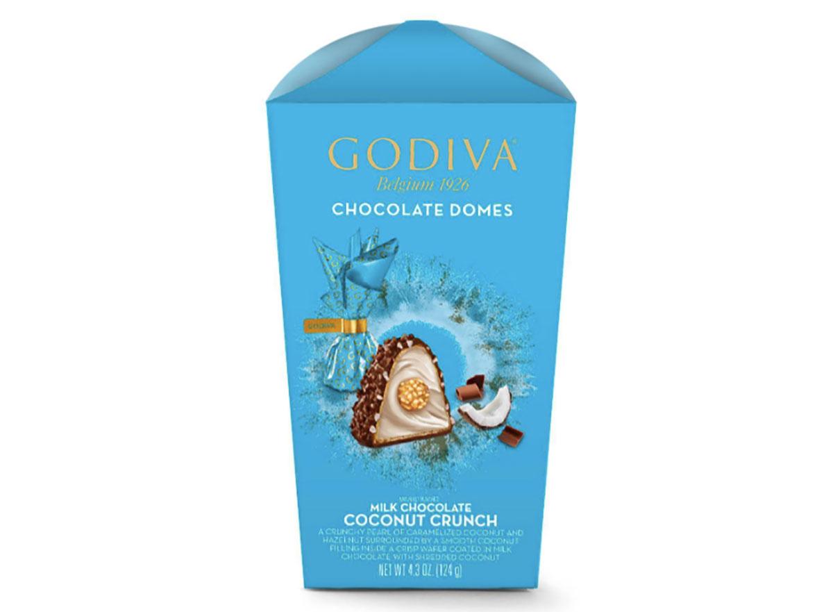godiva coconut crunch chocolate domes