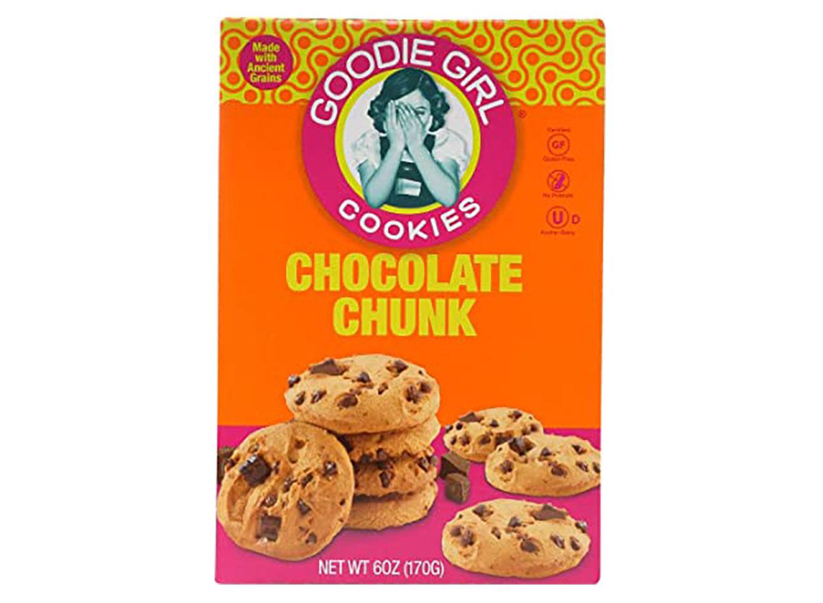 box of goodie girl chocolate chunk cookies