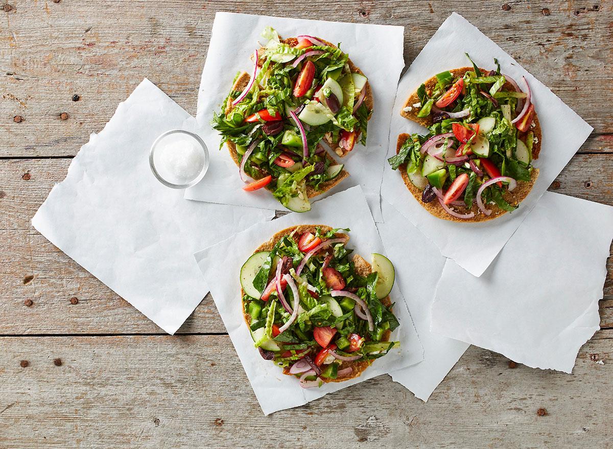 greek salad pizzas