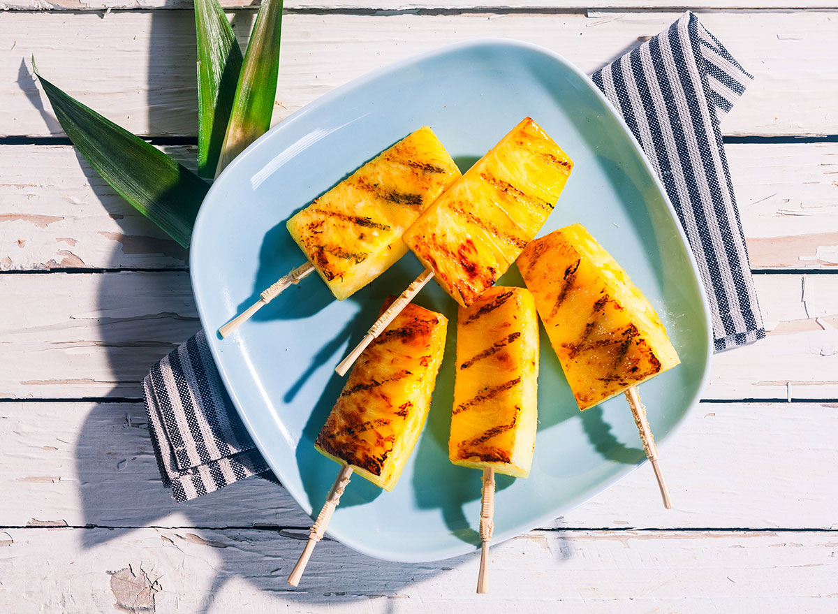 grilled pineapple sticks