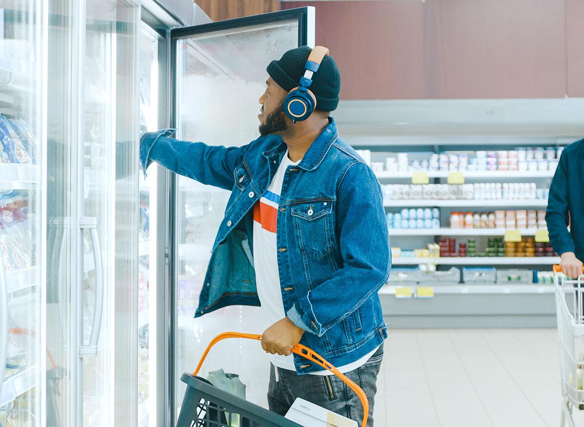 grocery shopping headphones