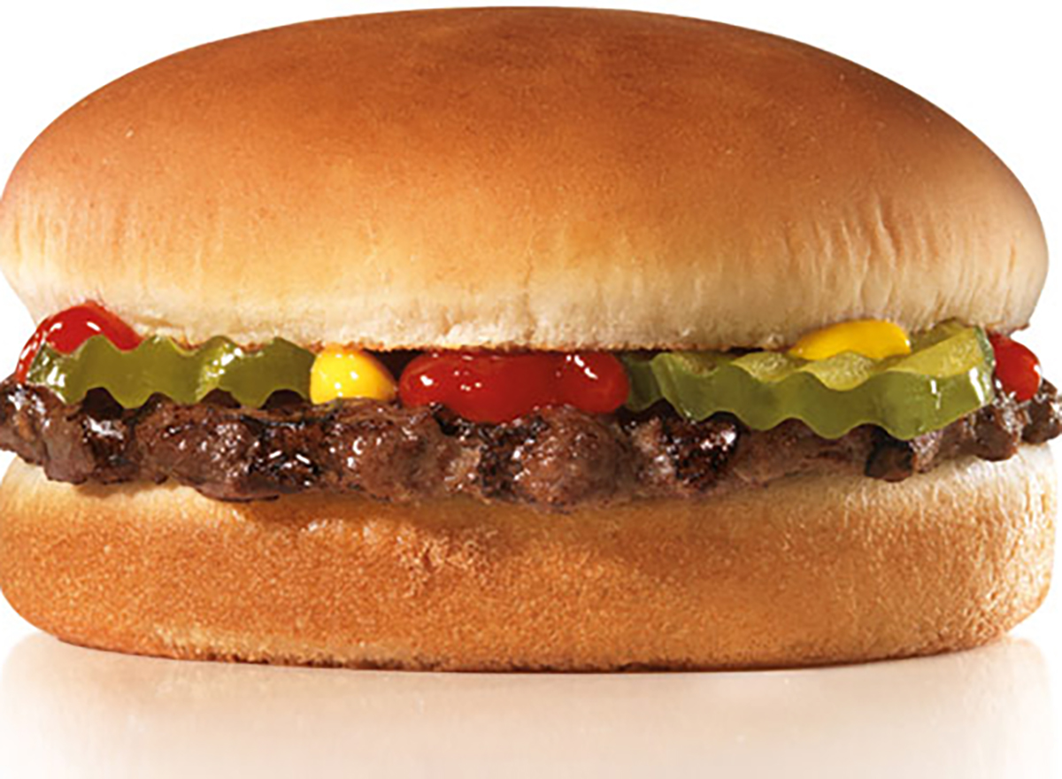 hardees small hamburger