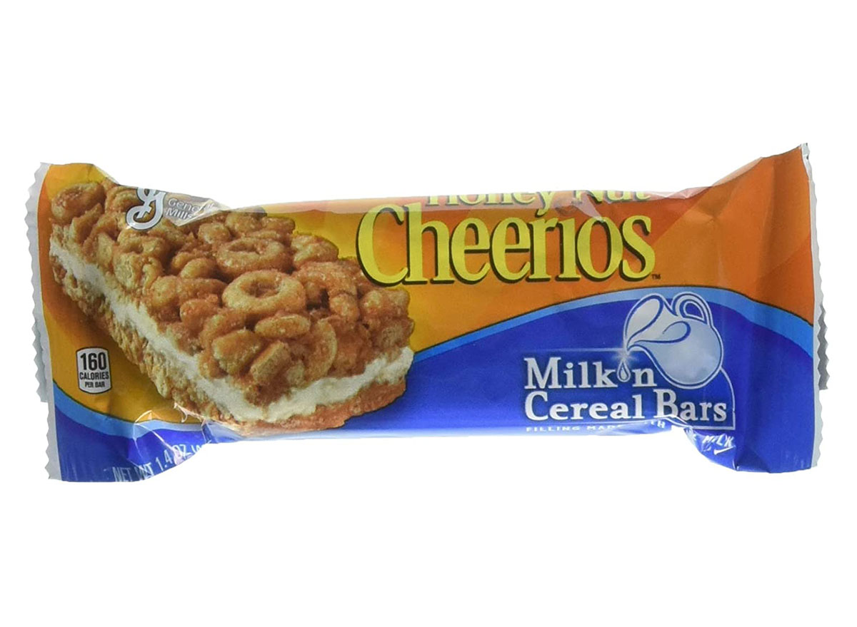 honey nut cheerios milk and cereal bar