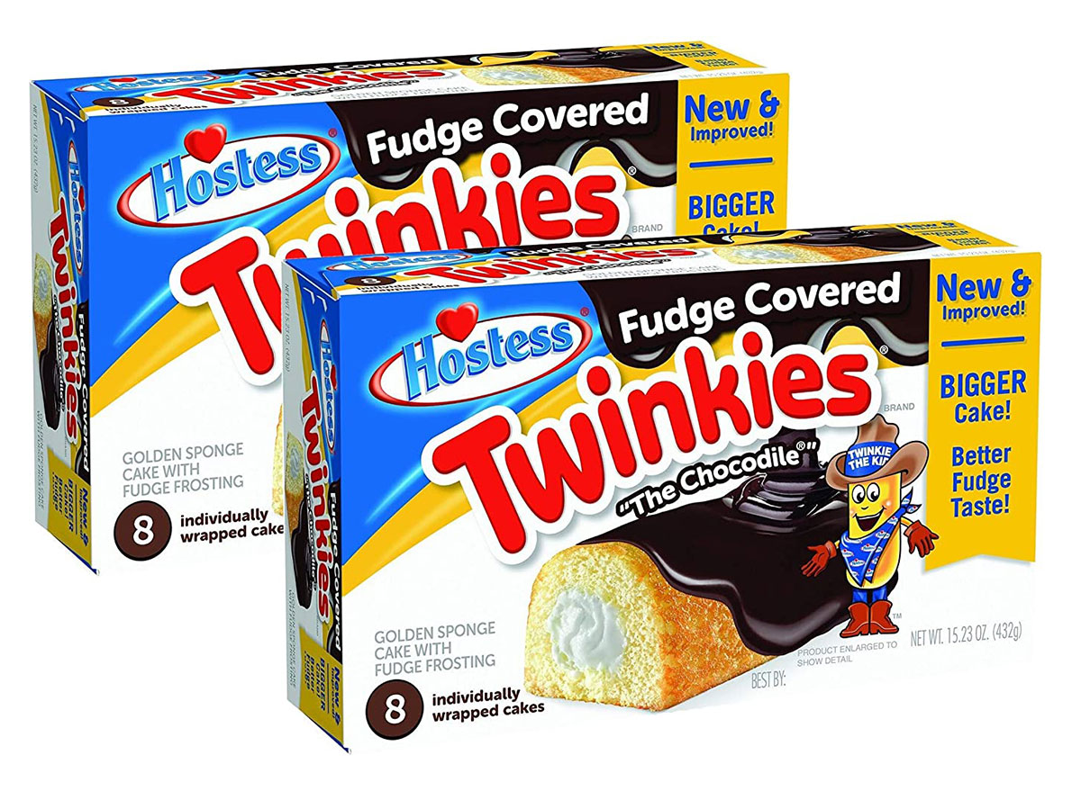 two boxes of hostess chocodiles