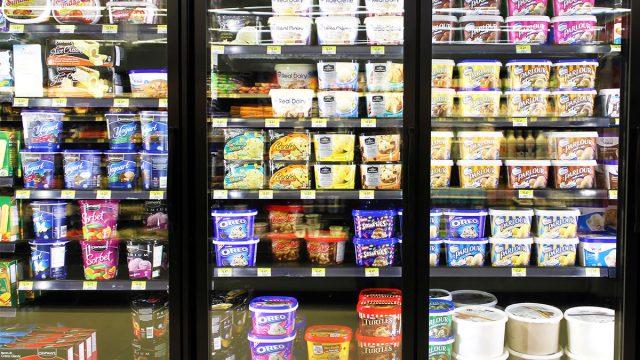 ice cream freezer aisle