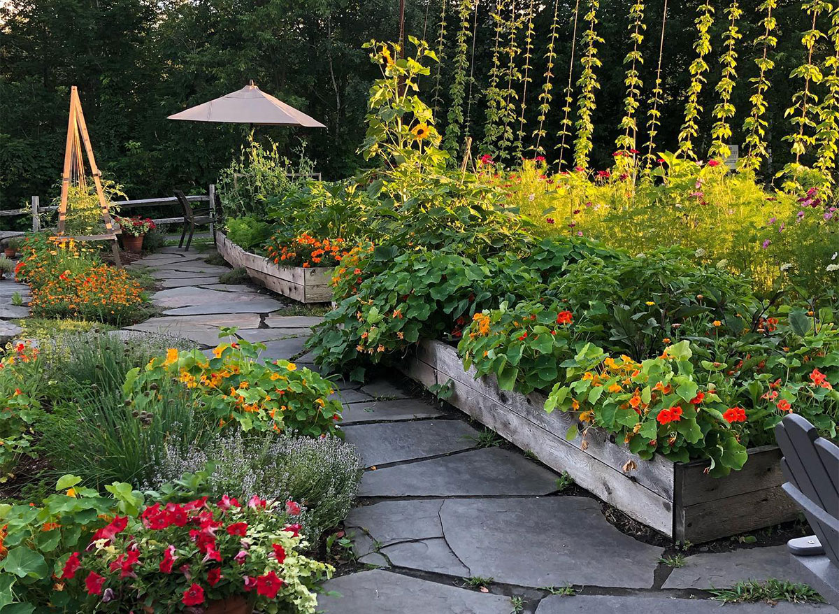 garden at idletyme brewing company vermont