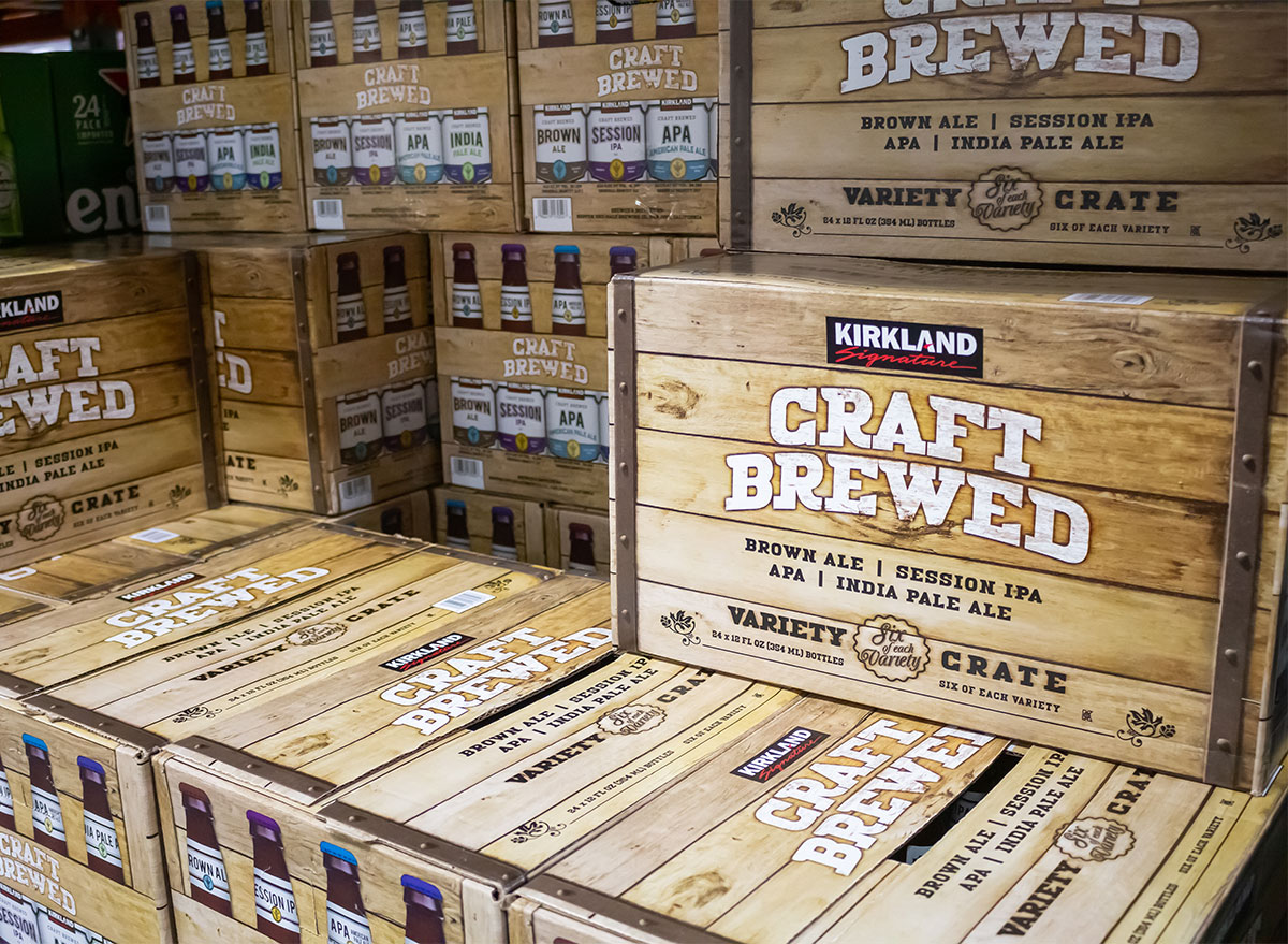 boxes of kirkland signature beer