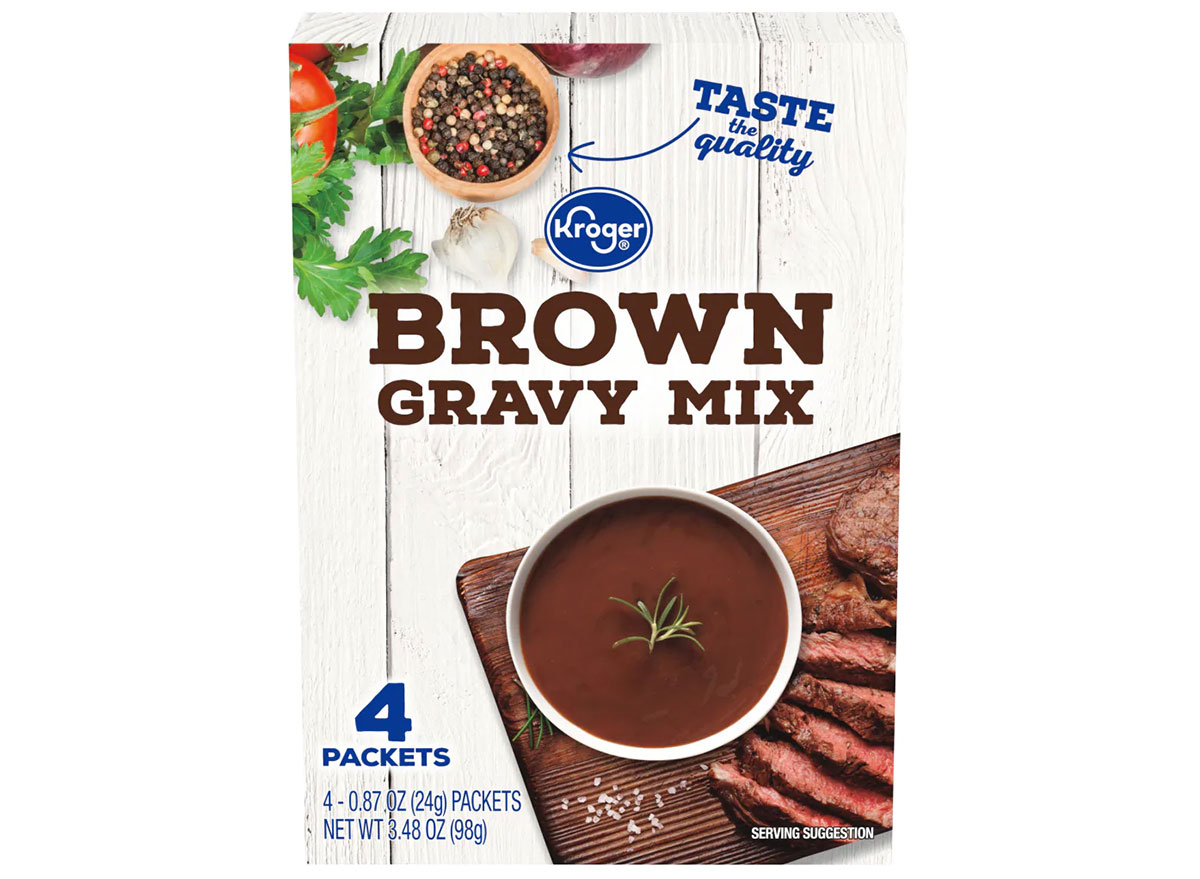 box of kroger brown gravy mix
