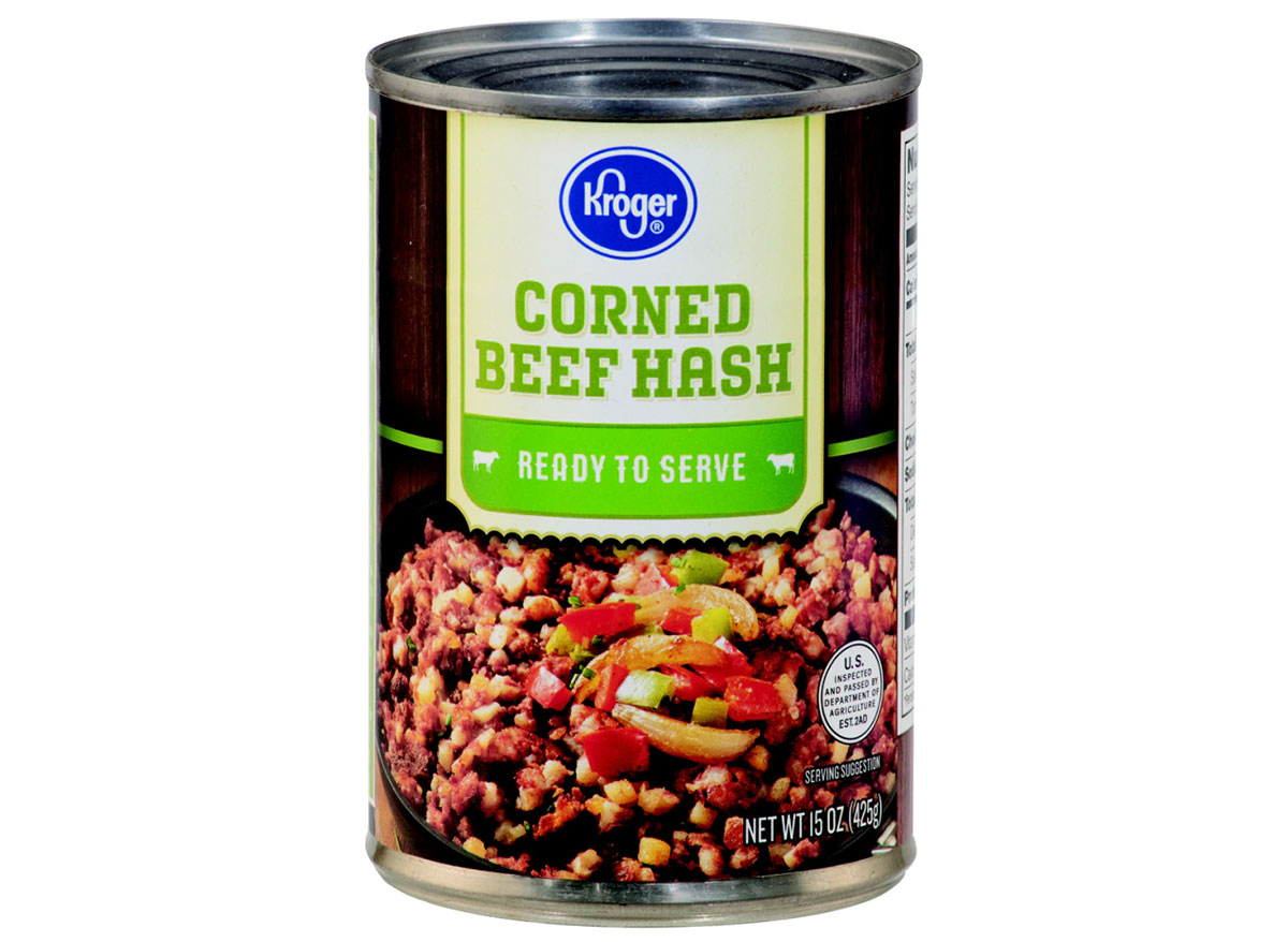 can of kroger corned beef hash