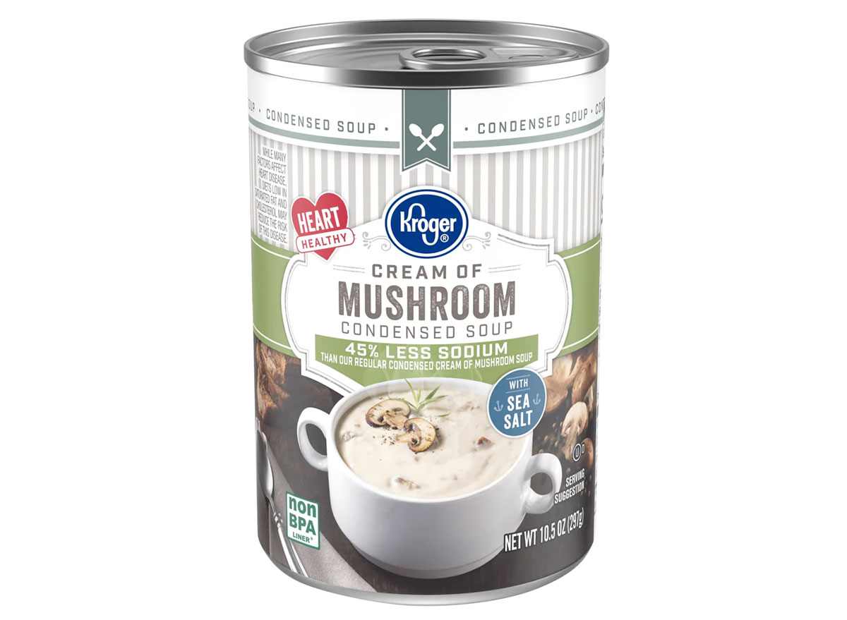 can of kroger cream of mushroom soup