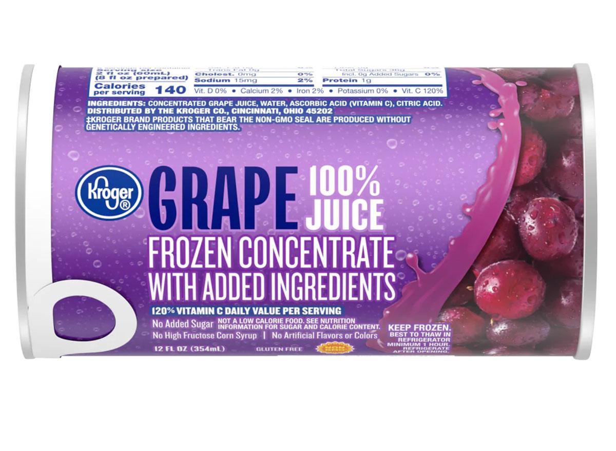 kroger frozen grape juice concentrate