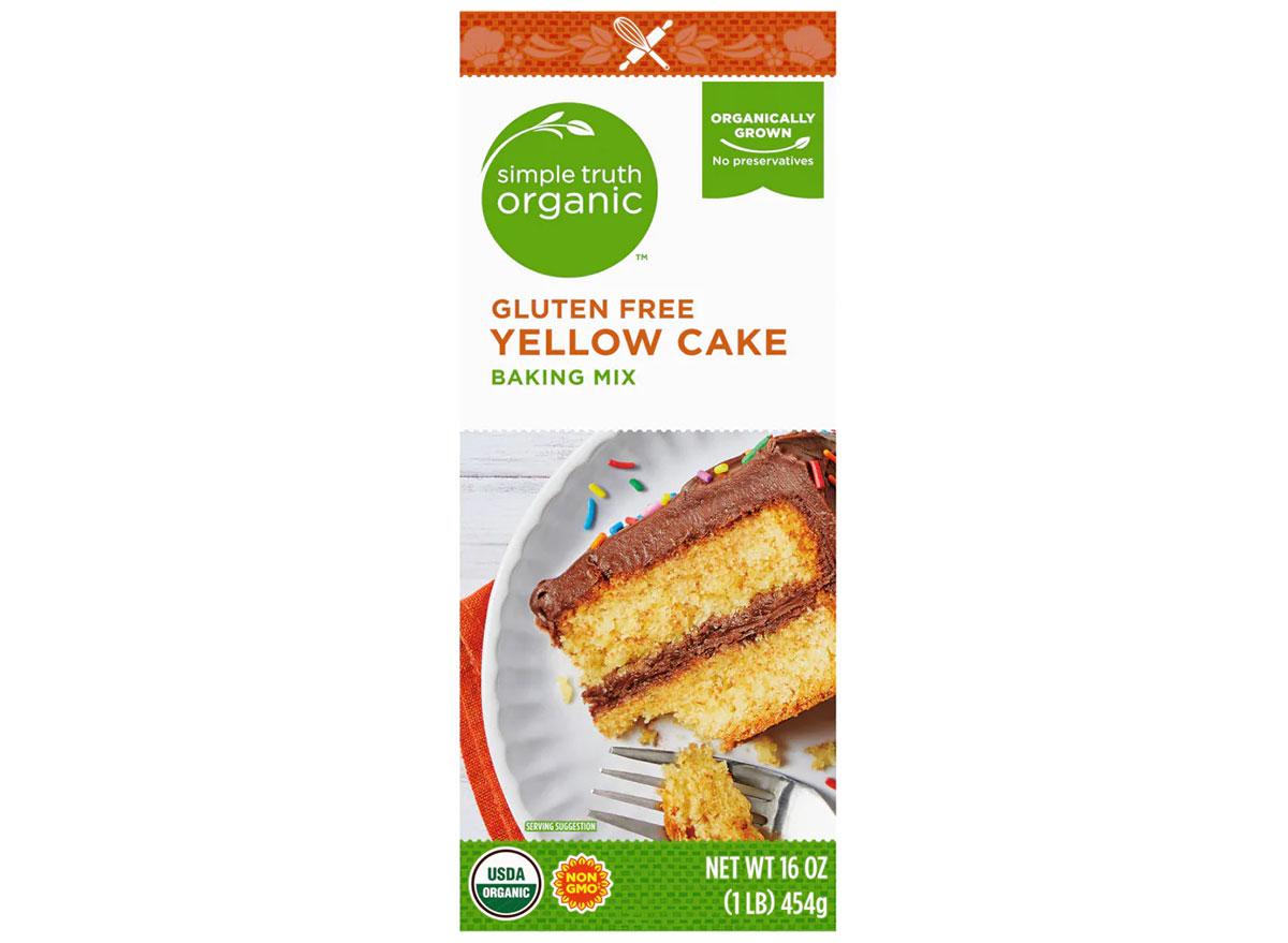 box of kroger simple truth gluten free yellow cake mix