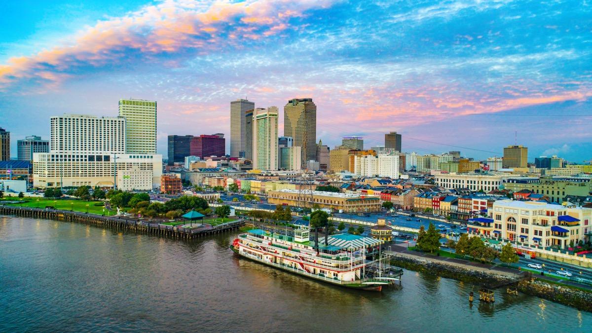 New Orleans, Louisiana, USA Downtown Skyline Aerial