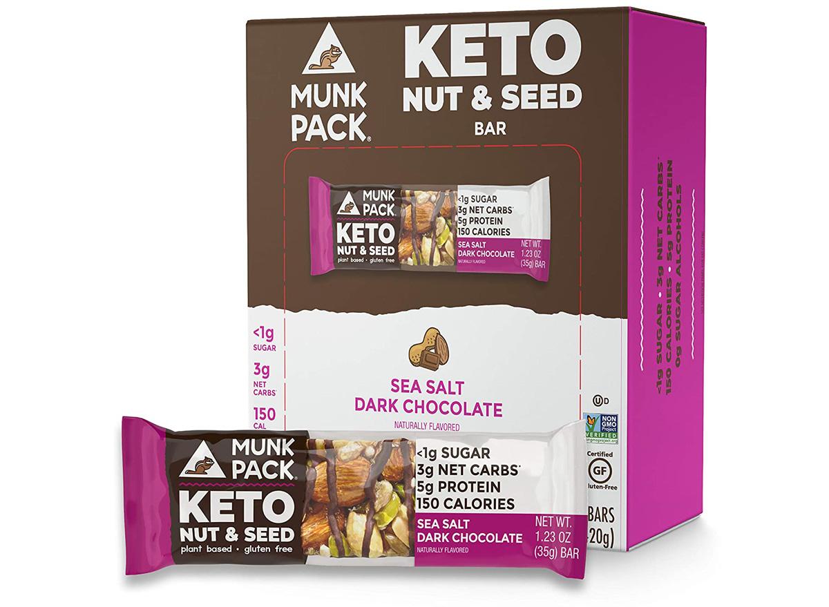 Munk pack keto nut seed bar