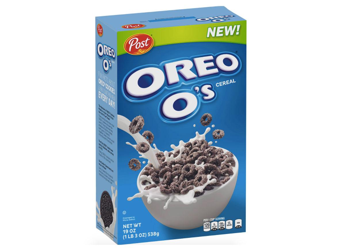box of oreo os cereal