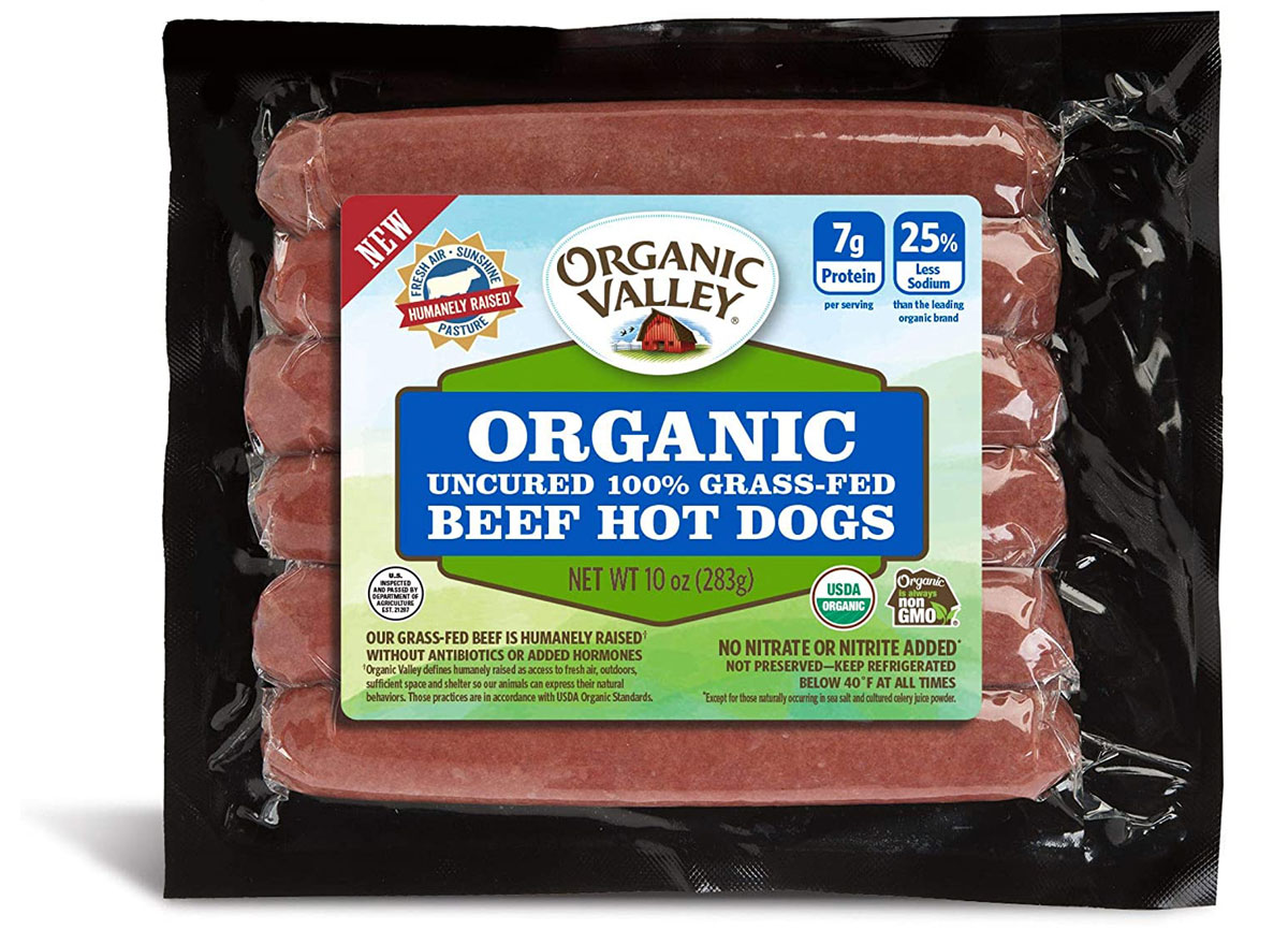organic valley uncured beef hot dogs