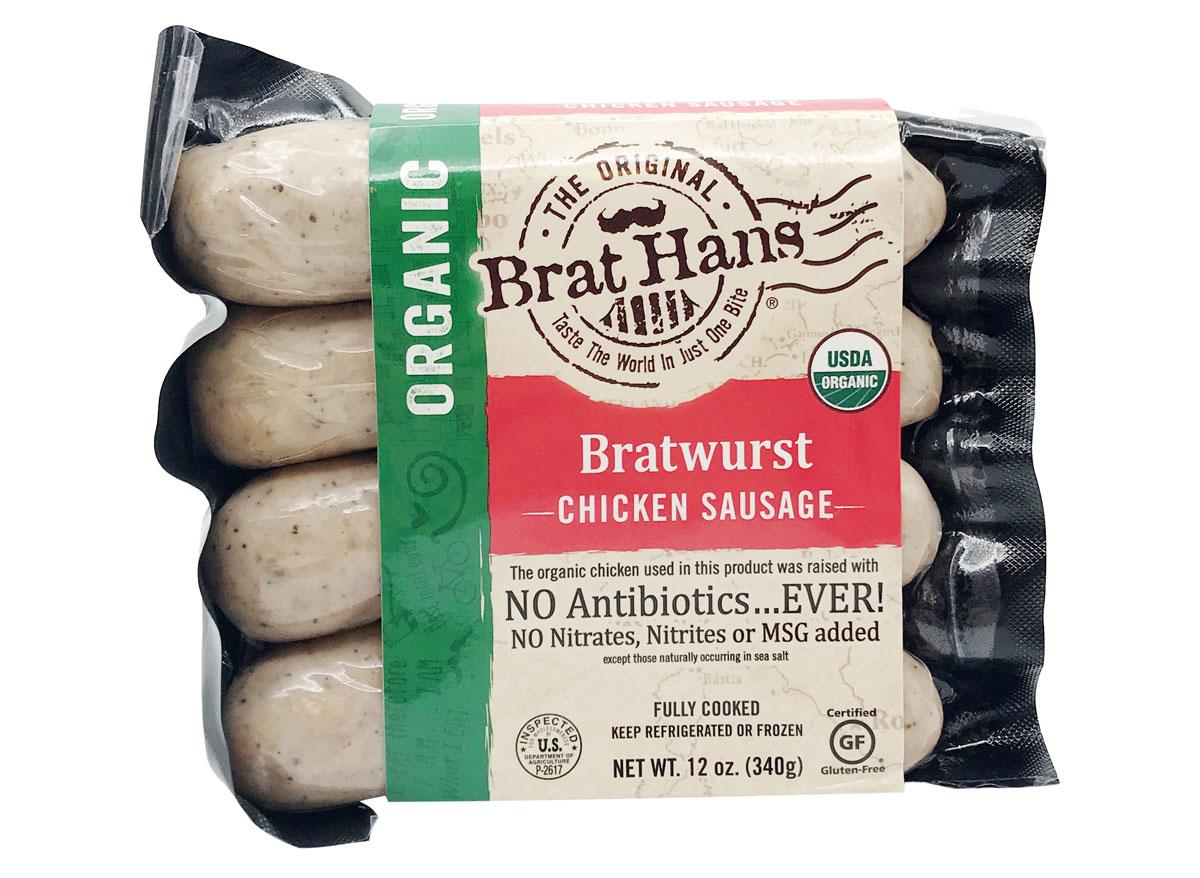 bratuwurst chicken sausage the original brat hans