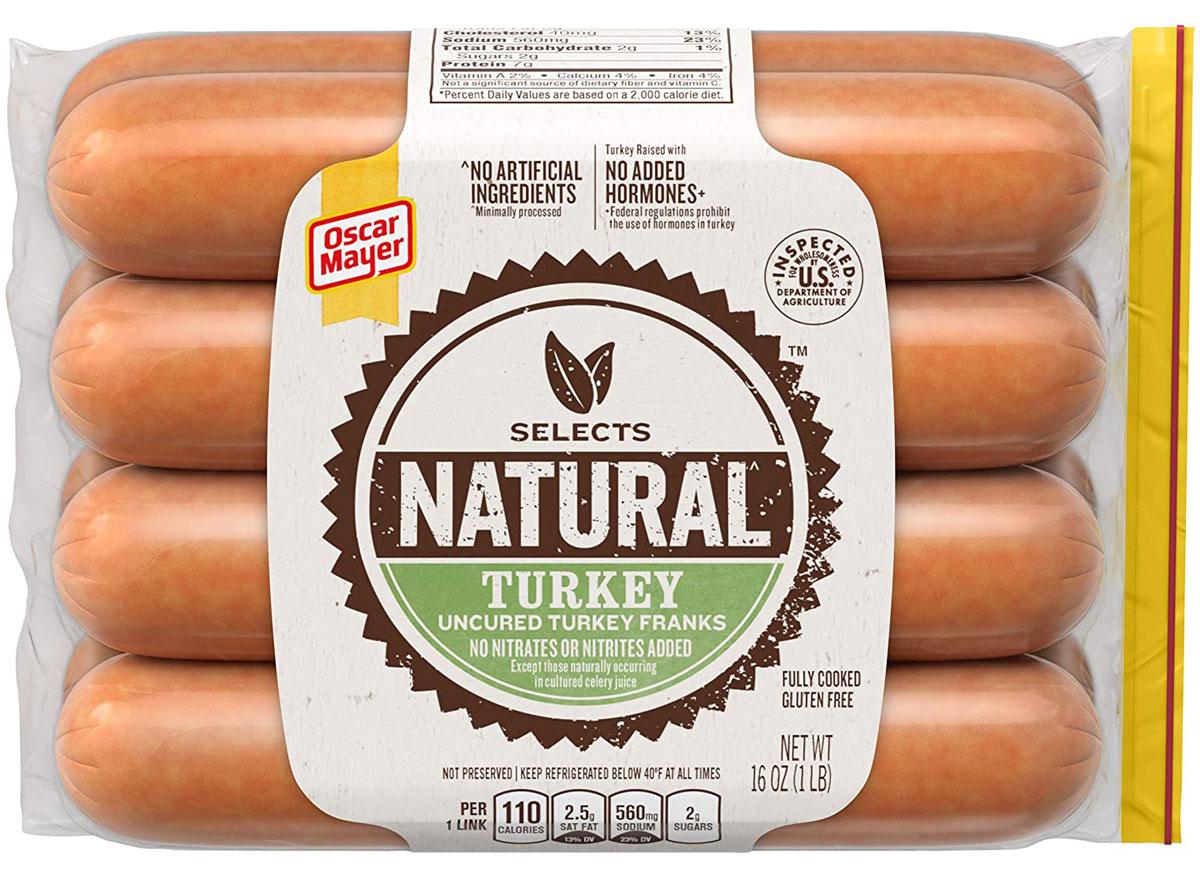 oscar mayer selects natural turkey franks
