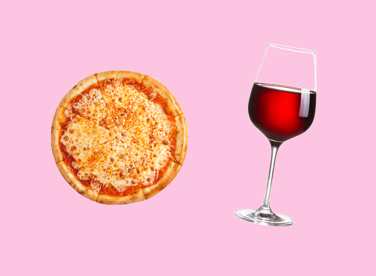 pizza and red blend