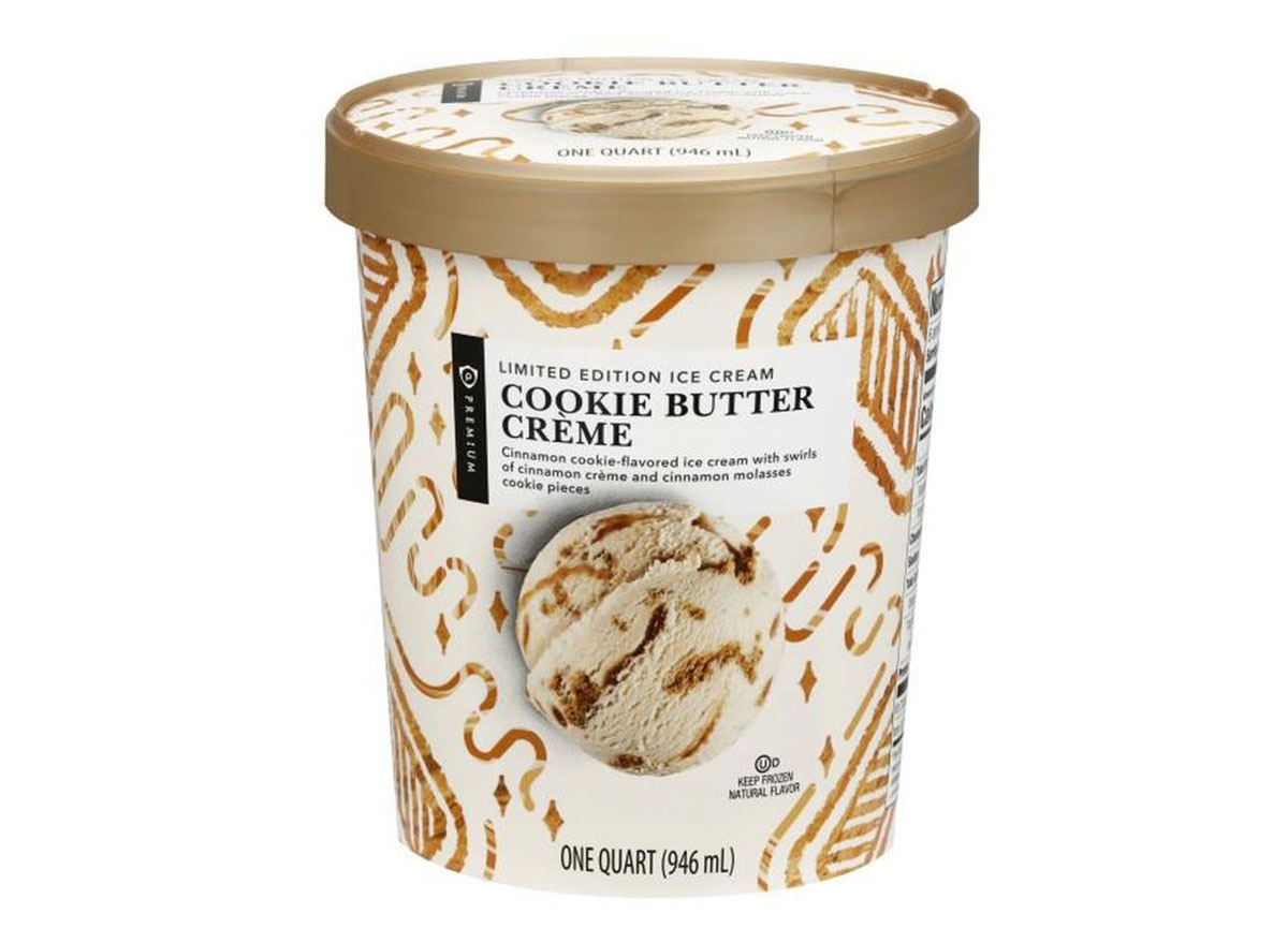 pint of publix cookie butter ice cream