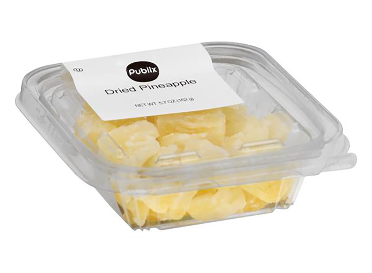 package of publix dried pineapple