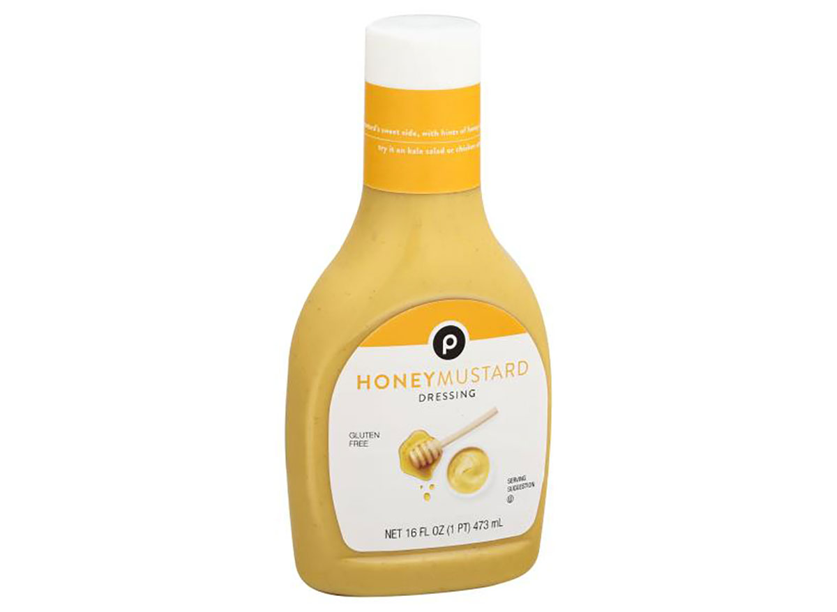 bottle of publix honey mustard salad dressing