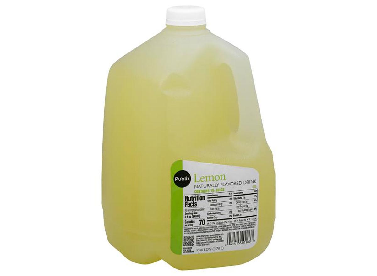 jug of publix lemon flavored drink