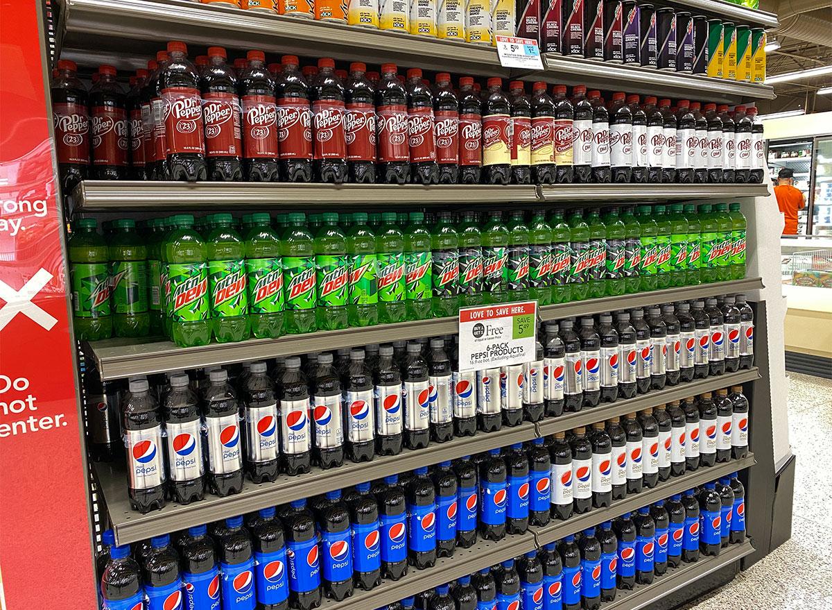 soda aisle at publix