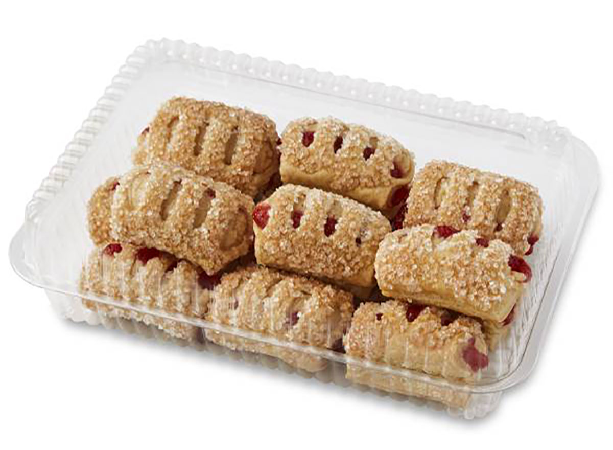 publix fresh strawberry and cheese pastry bites in plastic container