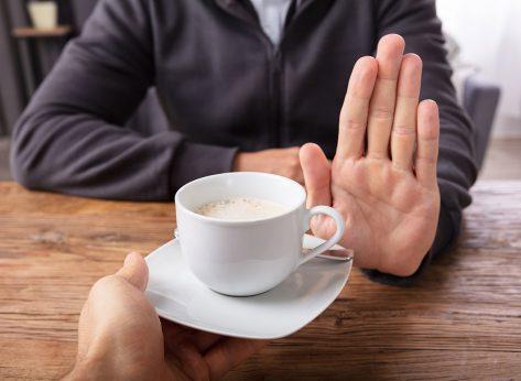 refusing coffee