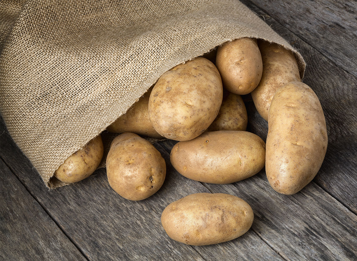 sack of russet potatoes