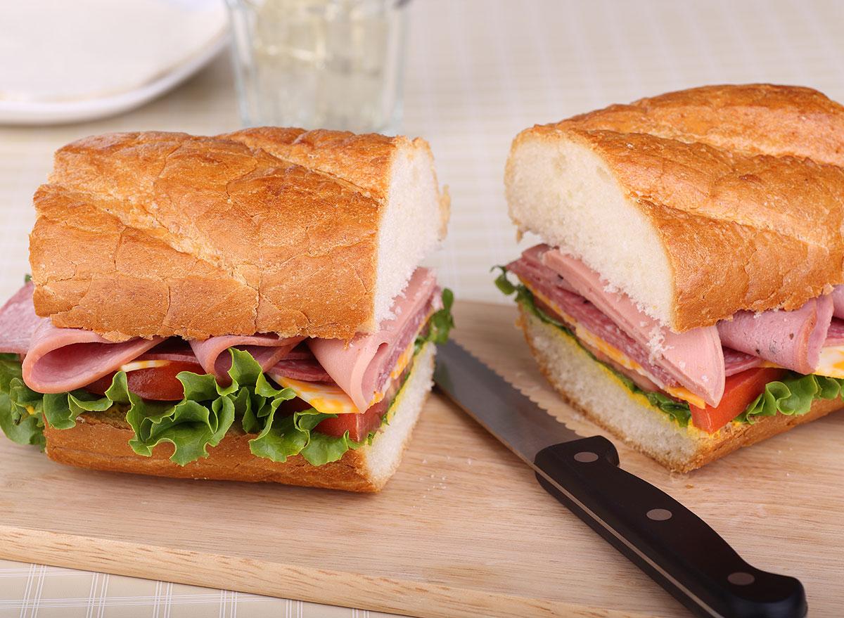 sliced sandwich