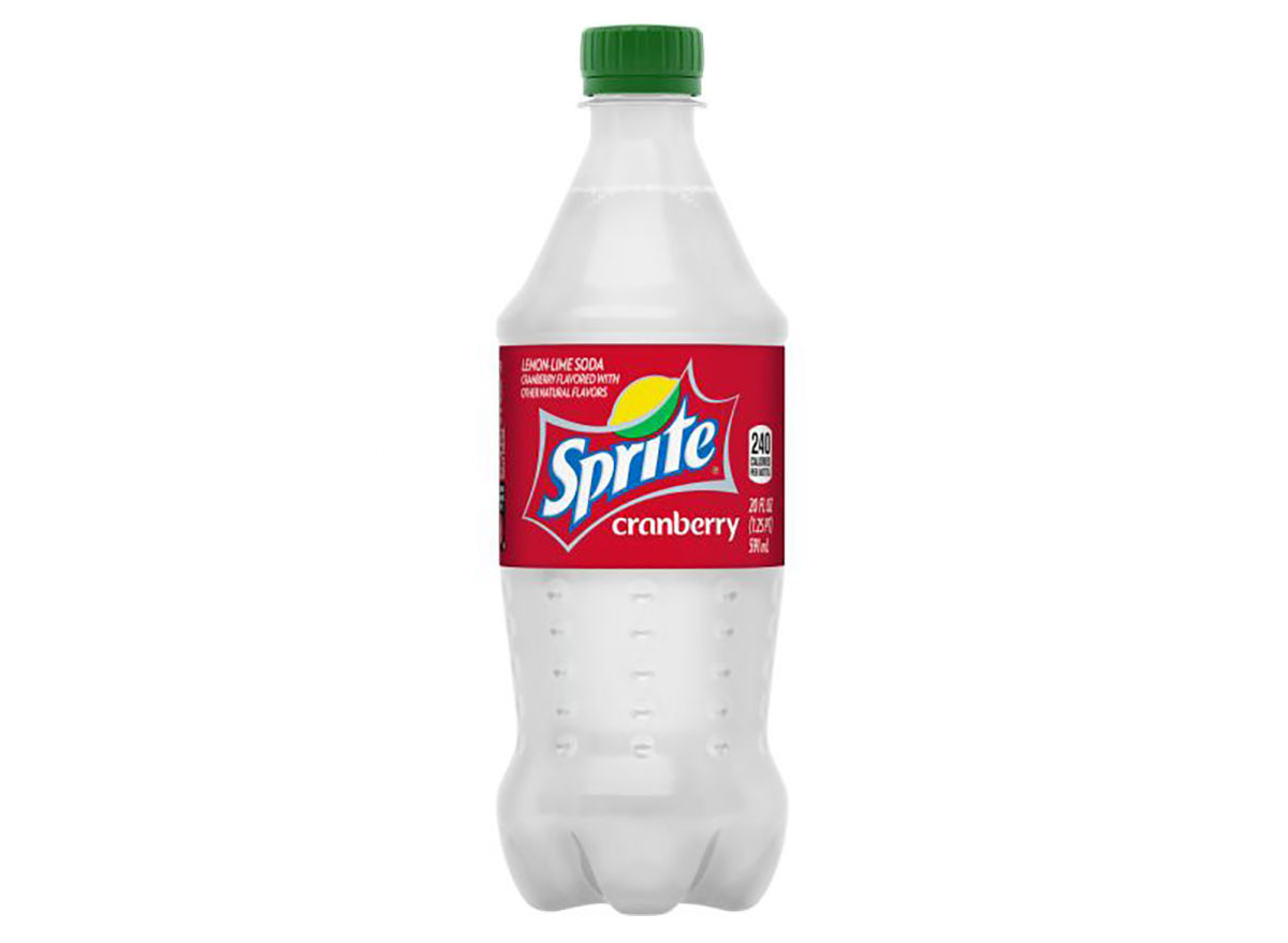 bottle of sprite cranberry soda