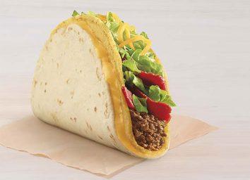 taco bell nacho crunch double stuffed taco