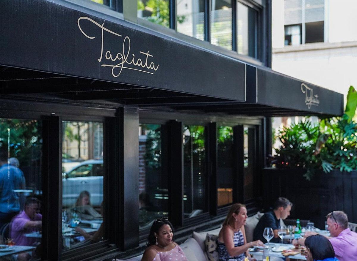 tagliata restaurant baltimore outdoor dining