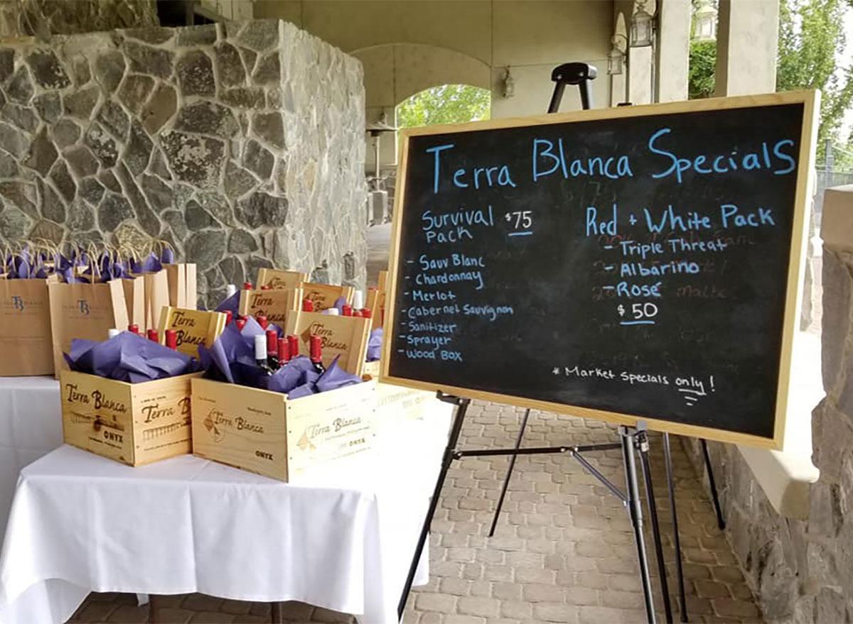 terra blanca winery sign in washington
