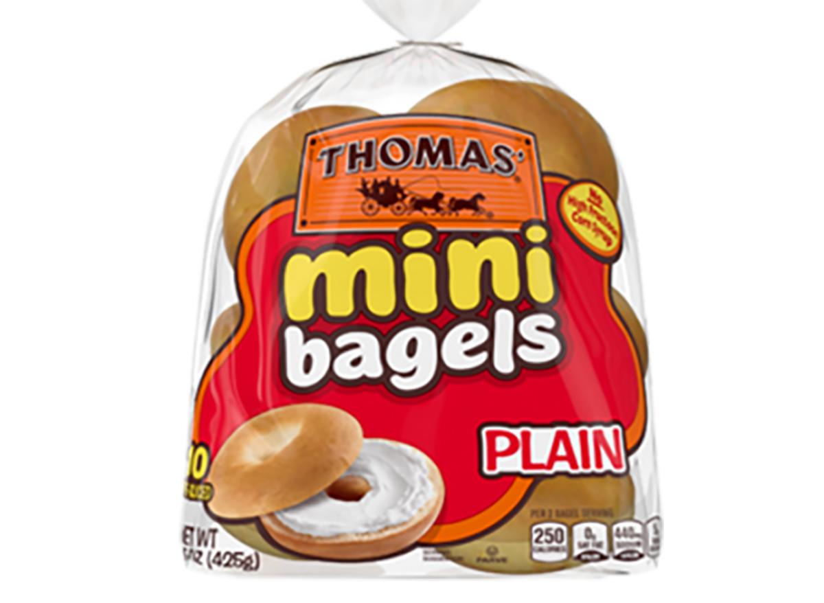 thomas plain mini bagels