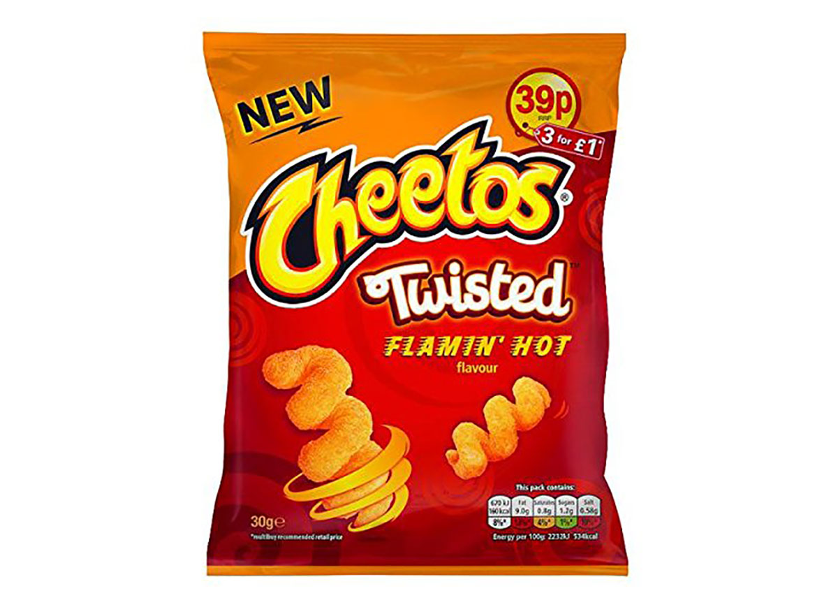 bag of twisted cheetos