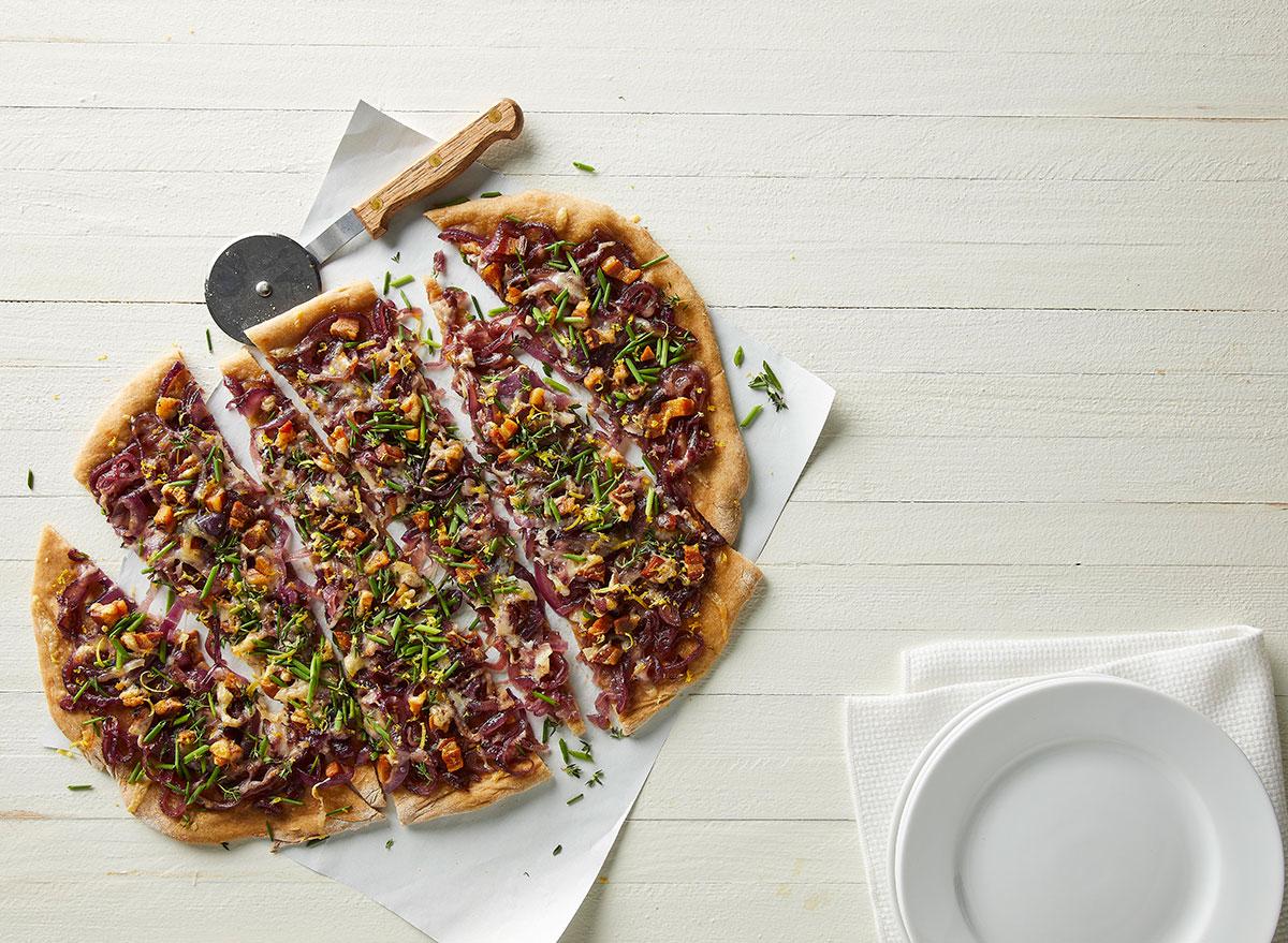 whole wheat pizza pancetta