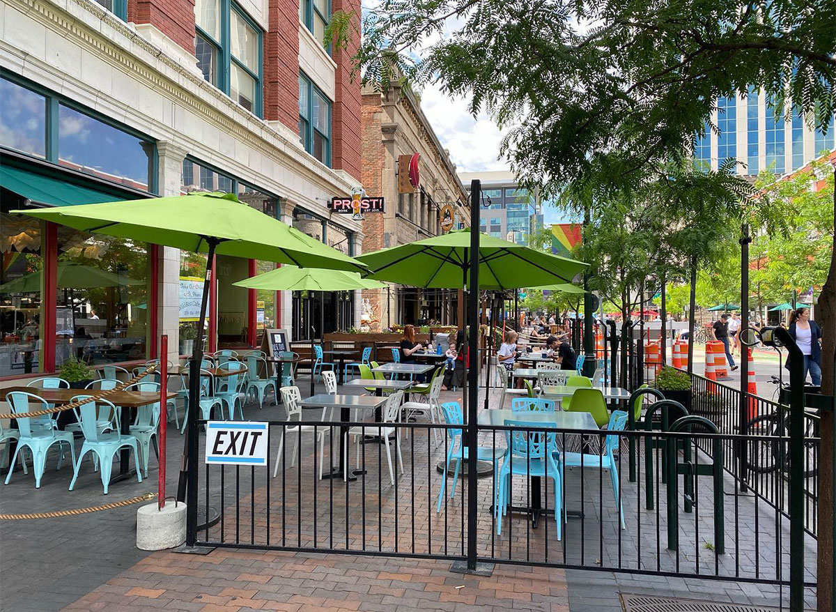 outdoor dining at wild root cafe in boise idaho