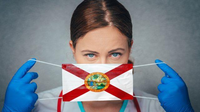Woman florida face mask