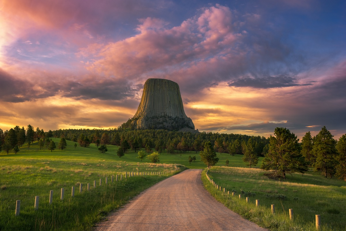 Sunrise at Devils Tower, Wyoming