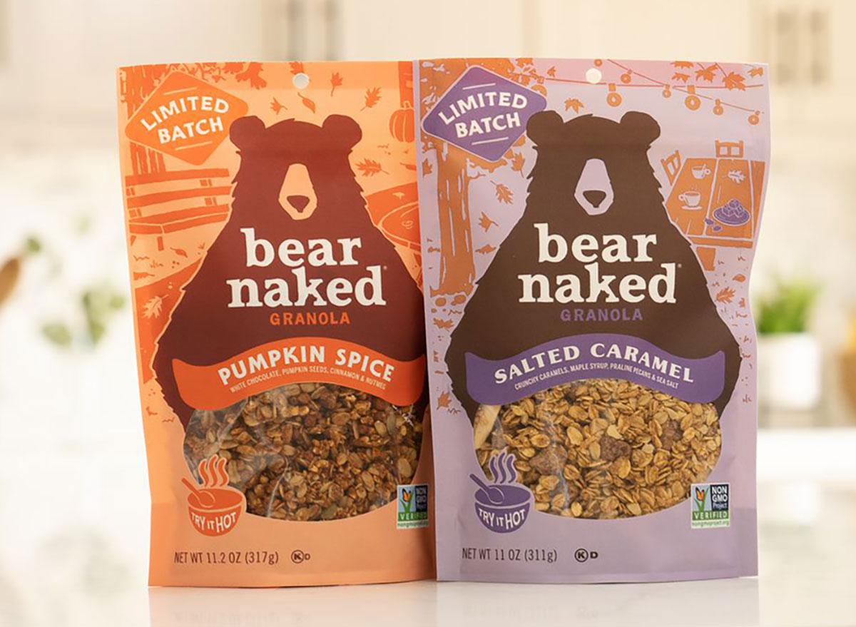 bear naked pumpkin spice and salted caramel granola