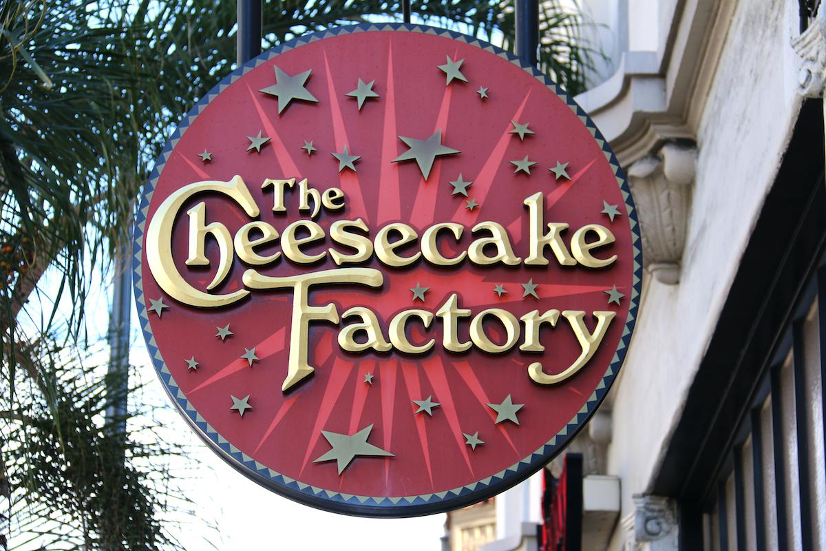 cheesecake factory logo sign