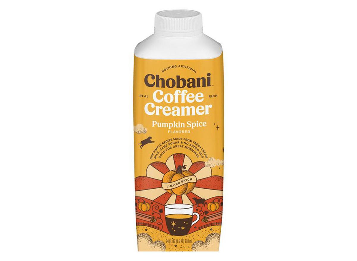 chobani pumpkin spice coffee creamer
