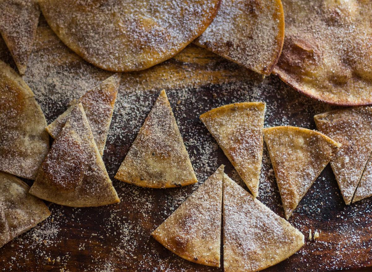 tortilla chips with cinnamon sugar