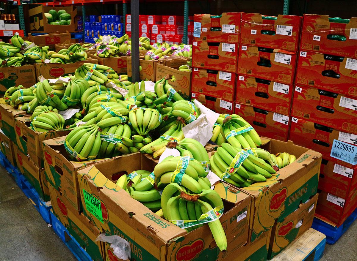 bales of costco bananas