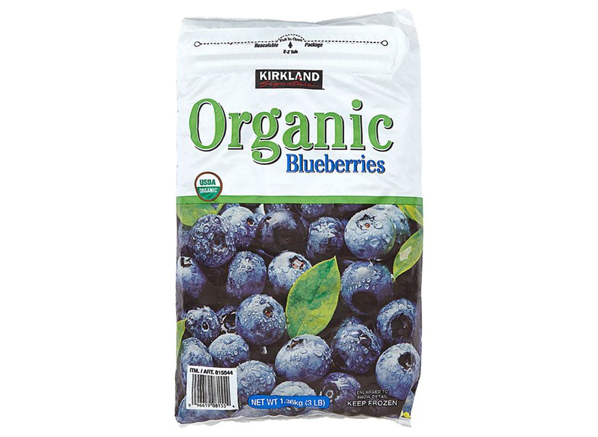 kirkland signature organic frozen blueberries